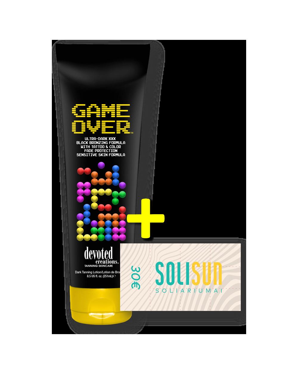 Game Over ™ + 30€ Solisun abonementas-Pagrindinis-Akcijos